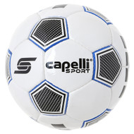 CAPELLI SPORT ASTIR HAND STITCHED SOCCER BALL -- WHITE PROMO BLUE