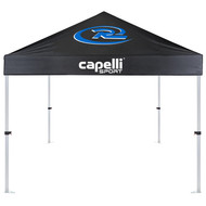 NEW JERSEY RUSH SOCCER MERCH TENT W/FLAME RETARDANT FINISH STEEL FRAME AND CARRYING CASE -- CAPELLI PROMO BLUE