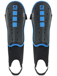 CAPELLI SPORT FOUR CUBES SHIN GUARDS WITH ANKLE STRAP -- BLACK PROMO BLUE
