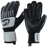 WISCONSIN WEST RUSH CS 4 CUBE TEAM YOUTH GOALKEEPER  GLOVE  --  SILVER BLACK