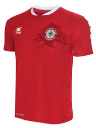 ADULT LEBANON NATIONAL TEAM HOME JERSEY -- RED WHITE