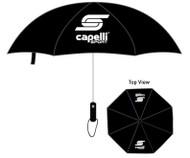 """CAPELLI SPORT   30""""  WINDPROOF  UMBRELLA   --   BLACK"""
