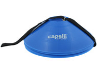 CAPELLI  SPORT 10 PCS TRAINING CONES WITH CARRY  STRAP  --     PROMO BLUE WHITE