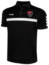LOUDOUN SPARROW POLO  -- BLACK WHITE