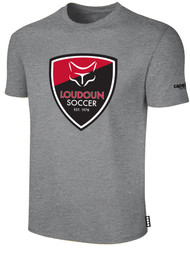 LOUDOUN COTTON T SHIRT  -- LIGHT HEATHER GREY BLACK