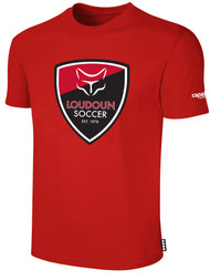 LOUDOUN COTTON T SHIRT  -- RED WHITE