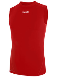 LOUDOUN  SLEEVELESS COOL COMPRESSION TOP  -- RED