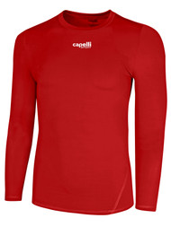LOUDOUN  LONG SLEEVE COOL COMPRESSION TOP     --      RED