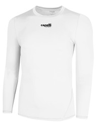 LOUDOUN  LONG SLEEVE COOL COMPRESSION TOP     --   WHITE