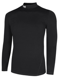 LOUDOUN  LONG SLEEVE WARM COMPRESSION TOP     --   BLACK