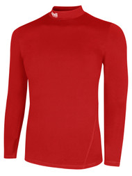 LOUDOUN  LONG SLEEVE WARM COMPRESSION TOP     --   RED