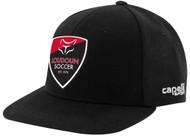 LOUDOUN FLAT BRIM CAP      --  BLACK