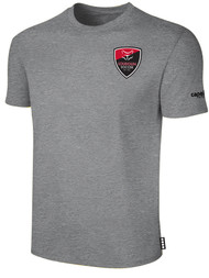 LOUDOUN COTTON T SHIRT  SMALL LOGO -- LIGHT HEATHER GREY BLACK