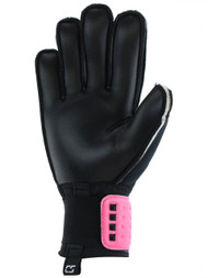 CHICAGO NORTH RUSH CS 4 CUBE TEAM YOUTH GOALIE GLOVE WITH FINGER PROTECTION -- NEON PINK NEON GREEN BLACK