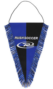 MICHIGAN RUSH HAMBURG PENNANT  -- BLUE BLACK