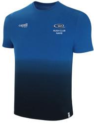 MICHIGAN RUSH LANSING LIFESTYLE DIP DYE TSHIRT --  PROMO BLUE BLACK **option to customize with your local club name