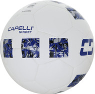 CAPELLI SPORT 4 CUBE CORSA FIFA QUALITY THERMAL BONDED SOCCER BALL --   WHITE ROYAL BLUE SILVER