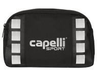 """CAPELLI SPORT  PLAYER  KIT ( 11""""L x 3.5"""" W x 6.75"""" H )   --    BLACK SILVER"""