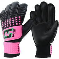 IOWA CENTRAL  RUSH  CS 4 CUBE TEAM YOUTH GOALKEEPER GLOVE-- NEON PINK NEON GREEN BLACK