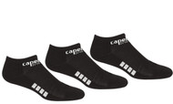 SOCCER STARS UNITED CAPELLI SPORT 3 PACK NO SHOW SOCKS-- BLACK