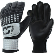 SOCCER STARS UNITED 4 CUBE TEAM YOUTH GOALKEEPER GLOVE  -- SILVER BLACK