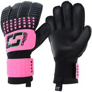 SOCCER STARS UNITED 4 CUBE TEAM ADULT GOALKEEPER GLOVE -- NEON PINK NEON GREEN BLACK