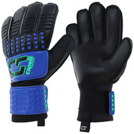 SOCCER STARS UNITED 4 CUBE TEAM ADULT GOALKEEPER GLOVE  -- PROMO BLUE NEON GREEN BLACK