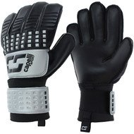 SOCCER STARS UNITED 4 CUBE TEAM ADULT GOALKEEPER GLOVE  -- SILVER BLACK