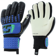 SOCCER STARS UNITED 4 CUBE COMPETITION ADULT GOALKEEPER GLOVE --PROMO BLUE NEON GREEN BLACK