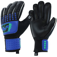 SOCCER STARS UNITED 4 CUBE TEAM YOUTH GOALKEEPER  GLOVE  --  PROMO BLUE NEON GREEN BLACK