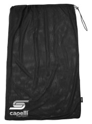 SOCCER STARS UNITED MESH DRAWCORD SOCCER  BALL BAG  --  BLACK