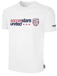 SOCCER STARS UNITED BASICS T-SHIRT -- WHITE
