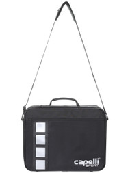 "SOCCER STARS UNITED PRO MEDICAL BAG   (17.25"" L x 5.37"" W x 10.75"" H)  --  BLACK SILVER"