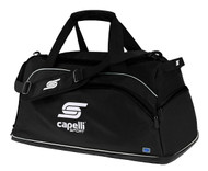 SOCCER STARS UNITED CAPELLI SPORT LARGE TEAM DUFFLE BAG --    BLACK