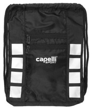 SOCCER STARS UNITED CAPELLI SPORT 4 CUBE SACK PACK WITH 2 EXTERIOR --BLACK SILVER