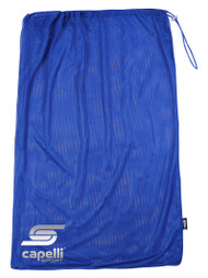 SOCCER STARS UNITED MESH DRAWCORD SOCCER  BALL BAG  --  ROYAL BLUE