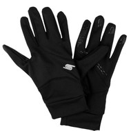 SOCCER FIELDER PLAYER GLOVES WITH GRIPPERS -- BLACK