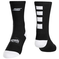 SACHEM FOUR CUBE CREW SOCKS -- BLACK WHITE