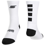 SACHEM FOUR CUBE CREW SOCKS -- WHITE BLACK