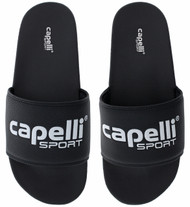SACHEM CAPELLI SPORT ADULTS ULTRA COMFORT SOCCER SLIDE -- BLACK