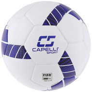 TRIBECA PRO ELITE- FIFA QUALITY PRO-THERMAL BONDED  SOCCER BALL  W/ 32 PANEL CONSTRUCTION -- WHITE BLACK ROYAL BLUE