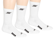 SACHEM CAPELLI SPORT 3 PACK CREW SOCKS -- WHITE
