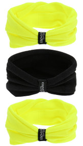 SACHEM CAPELLI SPORT SEAMLESS TWISTER SET-3 PACK  --  NEON YELLOW