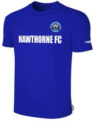 HAWTHORNE FC BASICS TEE SHIRT  --  ROYAL BLUE WHITE