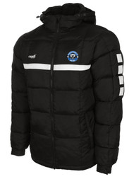 HAWTHORNE FC SPARROW WINTER JACKET WITH HOOD --  BLACK WHITE