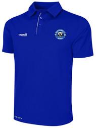 HAWTHORNE FC BASICS POLY POLO --  ROYAL BLUE WHITE