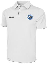 HAWTHORNE FC BASICS POLY POLO --  WHITE BLACK