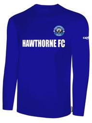 HAWTHORNE FC BASICS LONG SLEEVE --  ROYAL BLUE WHITE