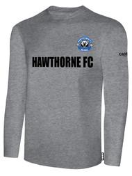 HAWTHORNE FC BASICS LONG SLEEVE --  LIGHT HEATHER GREY