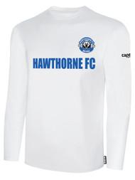 HAWTHORNE FC BASICS LONG SLEEVE --  WHITE BLACK